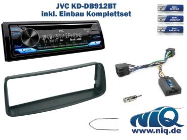 JVC KD-R871BT und Lenkrad Fernbedienung Adapter Peugeot 206 Bj 2002-2006 Autoradio Einbauset *Schwarz* inkl