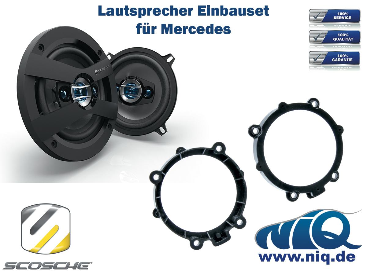 W906 Lautsprecher Einbauset Scosche HD5 . inkl Mercedes Sprinter Türe Front