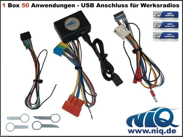 usb adapter f r audi vw seat skoda werksradios mit. Black Bedroom Furniture Sets. Home Design Ideas