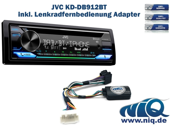NIQ Lenkradfernbedienungsadapter geeignet f/ür JVC Autoradios Splash kompatibel mit Suzuki Grand Vitara Kizashi Swift SX4